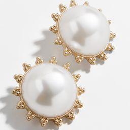 Dee Pearl Button Stud Earrings | BaubleBar (US)