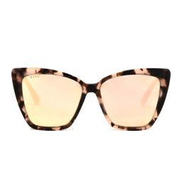BECKY II - HIMALAYAN TORTOISE + TAUPE FLASH MIRROR POLARIZED   DIFF Eyewear