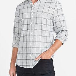 Slim Plaid Stretch Flannel Shirt   Express