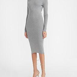 Ribbed Turtleneck Midi Sweater Dress   Express