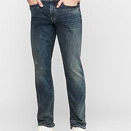 Straight Fit Medium Wash Hyper Stretch Jeans   Express
