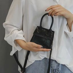 Mini Flap Satchel Bag   SHEIN