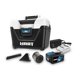 HART 20-Volt Cordless 2-Gallon Wet/Dry Vac Kit (1) 20-Volt 4.0Ah Lithium- Ion Battery | Walmart (US)