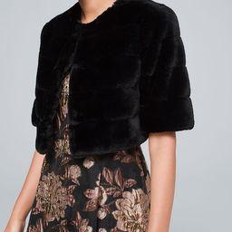 Women's Faux-Fur Bolero by White House Black Market, Black, Size M   White House Black Market