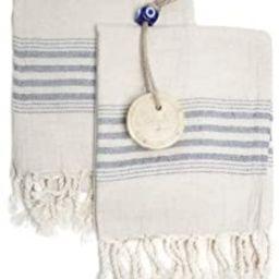 Ahenque Set of 2 Linen Cotton Blend Premium Quality, Long Tea Towel Natural in Color and Eco-Frie... | Amazon (US)