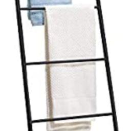 mDesign Metal Free Standing Bath Towel Blanket Ladder Storage Organization, Rack for Bathroom, Be... | Amazon (US)