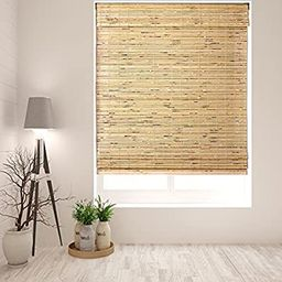 """Arlo Blinds Cordless Petite Rustique Bamboo Roman Shades Blinds - Size: 20"""" W x 60"""" H, Cordless L... 