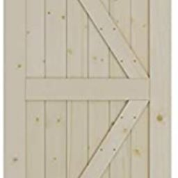 SmartStandard 36in x 84in Sliding Barn Wood Door Pre-Drilled Ready to Assemble, DIY Unfinished So... | Amazon (US)