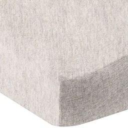 AmazonBasics Heather Jersey Fitted Crib Sheet Bedding, Chambray | Amazon (US)