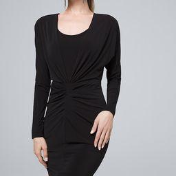 Women's Statement Jersey Knit Dress by White House Black Market, Black, Size L   White House Black Market