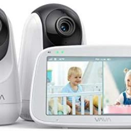 """VAVA Baby Monitor Split View, 5"""" 720P Video Baby Monitor with 2 Cameras, Audio and Visual Monitor... 
