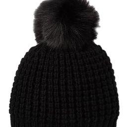 Faux Fur Pompom Classic Beanie | Nordstrom Rack