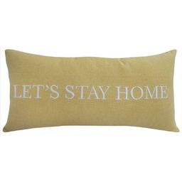 Oversized Let's Stay Home Lumbar Throw Pillow Yellow - Threshold™   Target