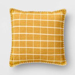 Square Plaid Chenille Pillow - Threshold™   Target