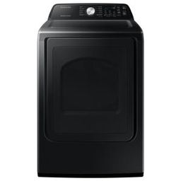7.4 cu. ft. 120-Volt Black Stainless Gas Dryer with Sanitize (Pedestals Sold Seperately) | The Home Depot