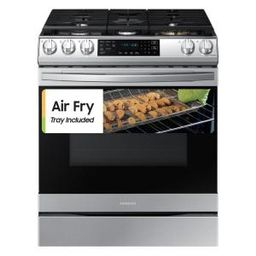 30 in. 6.0 cu. ft. Slide-In Gas Range with Air Fry and Fan Convection in Fingerprint Resistant St... | The Home Depot