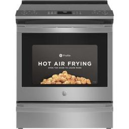 Profile 5.3 cu. ft. Electric Range with Steam-Cleaning Convection Oven and Air Fry in Stainless S... | The Home Depot