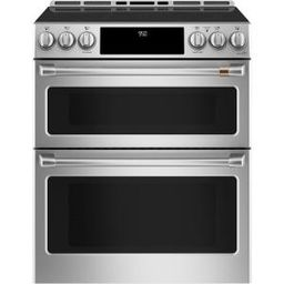 30 in. 7.0 cu. ft. Smart Slide-In Double Oven Induction Range with Convection in Matte White, Fin... | The Home Depot