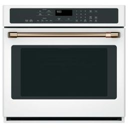 30 in. Smart Single Electric Wall Oven with Convection Steam-Cleaning in Matte White, Fingerprint... | The Home Depot