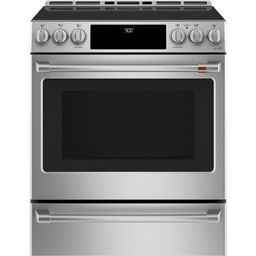 30 in. 5.7 cu. ft. Slide-In Electric Range with Self Cleaning Convection Oven in Stainless Steel | The Home Depot