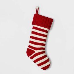 Stripe Knit Christmas Stocking Red & White - Wondershop™ | Target