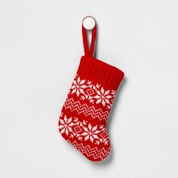 Fair Isle Knit Mini Christmas Stocking Red & White - Wondershop™ | Target