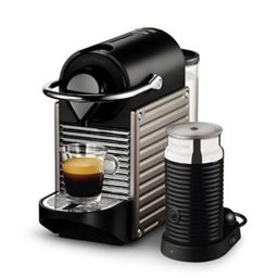 Nespresso® Pixie Espresso Machine by Breville® with Aeroccino Milk Frother in Electric Titan | ... | Bed Bath & Beyond