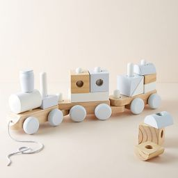 Wooden Block Train Toy   Anthropologie (US)