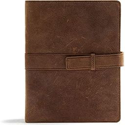 CSB Legacy Notetaking Bible, Tan Genuine Leather with Strap | Amazon (US)