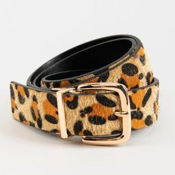 Josie Reversible Leopard Belt - Leopard   Francesca's Collections