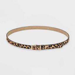 Women's Plus Size Leopard Print Belt - Ava & Viv™   Target