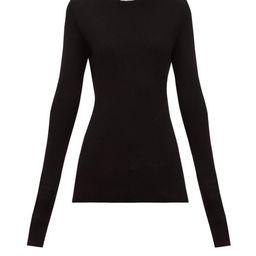 Raey - Crew-neck Fine-rib Cashmere Sweater - Womens - Black   Matchesfashion (Global)