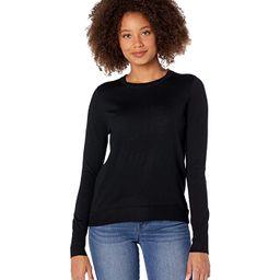 J.Crew Margot Crew Neck Sweater (Black) Women's Sweater   Zappos