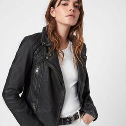 Cargo Leather Biker Jacket | All Saints US