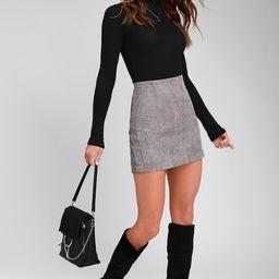 High Class Light Grey Corduroy Mini Skirt | Lulus (US)