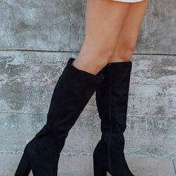 Layyney Black Suede Platform Knee High Boots | Lulus (US)