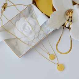 THE PREMIUM COIN NECKLACE CHOKER SET | Shapes Studio