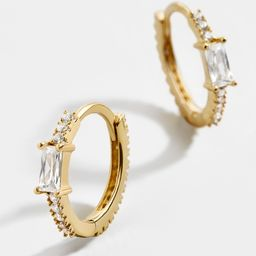 Pietra 18K Gold Vermeil Huggie Hoops | BaubleBar (US)