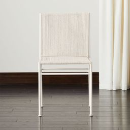 Bounce Ivory Woven Dining Chair + Reviews | CB2 | CB2