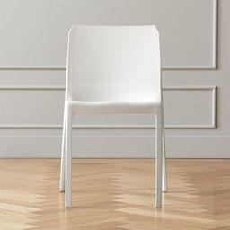 Bolla White Dining Chair + Reviews | CB2 | CB2