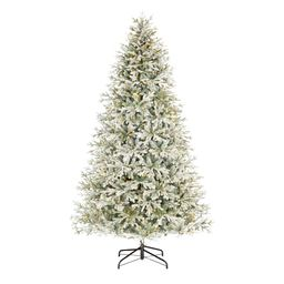 Home Decorators Collection 9 ft. Kenwood Frasier Fir Flocked LED Pre-Lit Artificial Christmas Tree w   The Home Depot
