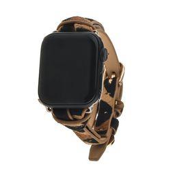 Safari Apple Watch Strap on Gold | Victoria Emerson