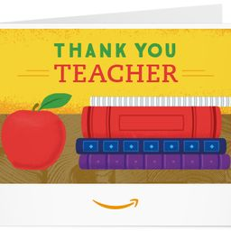 Amazon.com: Amazon Gift Card - Print - Thank You Teacher (Books): Gift Cards   Amazon (US)