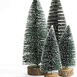 Dream Loom Mini Christmas Tree, A Set of 4 Sizes Artificial Small Tiny Pine Tree with Wooden Base... | Amazon (US)