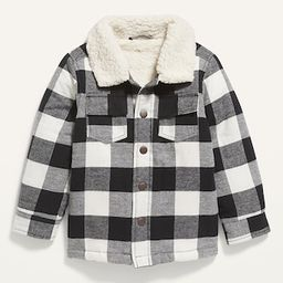 Unisex Sherpa-Lined Plaid Shirt Jacket for Toddler   Old Navy (US)