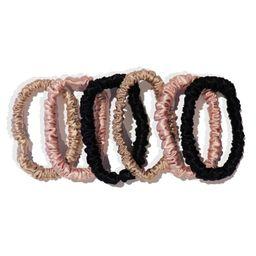 Pure Silk 6-Pack Skinny Hair Ties   Nordstrom