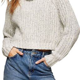 Neppy Cropped Cowl Neck Sweater   Nordstrom