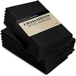 Utopia Kitchen Cloth Napkins 18 by 18 Inches, 12 Pack Black Dinner Napkins, Cotton Blend Soft Dur...   Amazon (US)