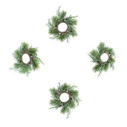 St. Nicholas Square® 4-pc. Pine Wreath Napkin Ring Set   Kohl's