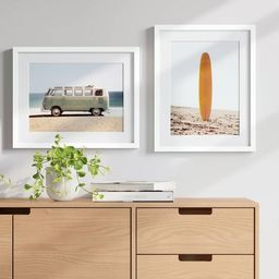 """(Set of 2) 16"""" x 20"""" Van and Surfboard Framed Wall Art - Project 62™   Target"""